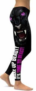 "GEARBUNCH Panther ""Time to Beast"" Black Leggings sz.Medium MSRP $89"