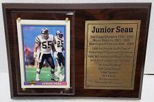 San Diego Chargers Junior Seau Football Card Plaque