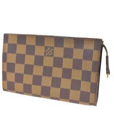Authentic LOUIS VUITTON Marais Bucket Pouch Damier Leather Brown France 61MB534