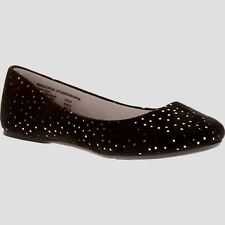 Women's Wal Mart Brand Ballet Flats Soft Black Dot Size 8 Casual Shoes NEW