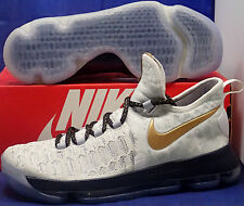 best sneakers 7ba91 1f9fa Nike Kd 9 Ix Identifikation Weiß-marine Blaues Gold Olympisches Kevin Durant