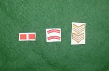 1/6 WW2 di British Gloucestershire REGGIMENTO titoli spalla patch set lotto