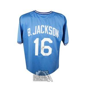 Bo Jackson Autographed Kansas City Royals Custom Baseball Jersey - BAS COA (B)
