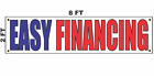 EASY FINANCING Banner Sign 2x8 for Used Car Auto Sales Lot