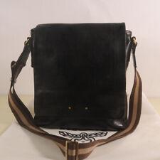 AUTHENTIC MCM Leather Messenger Cross body Bag + Dust Bag
