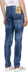 """NEW mens IT50 (UK 34"""") 2021 Dsquared2 'Cool Guy Jean' Blue Fade S71LB0879"""