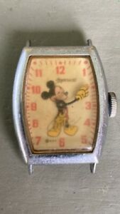 Vintage Mickey Mouse Watch US Time 1948 Ingersoll Stamped 8842