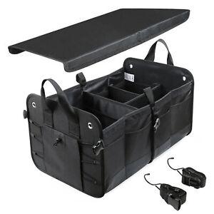 Organizador de maletero plegable para coche compras camping deporte 20 kg negro