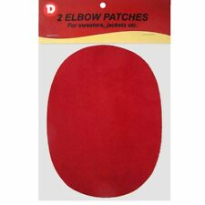 Two Faux-Suede Iron-On Elbow Patches 4.5  x 5.5 in - Red