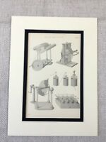 1880 Science Print Victorian Scientific Diagram Electricity Apparatus Equipment