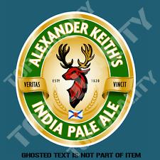 ALEXANDER INDIA PALE ALE BEER DECAL STICKER BAR FRIDGE COOLER MANCAVE SHED CAR