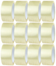 CLEAR PACKING TAPE - 12 rolls - 48mm x 66m - For Packaging Parcels/Boxes/Cartons