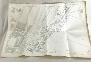1890 Antique Map of Batley West Yorkshire Victoria Mills Tramway Carr Station
