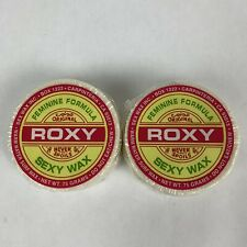 Lot of 2 Roxy Surf Board Sexy Wax Cake Warm Water .75 Grams Feminine Formula