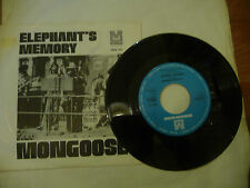 "ELEPHANT'S MEMORY(JOHN LENNON)""MONGOOSE-disco 45 giri METROMEDIA Ger 1970"""