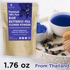 PREMIUM Blue Dried Butterfly Pea Flower Tea Powder Organic 50g Pure Thailand