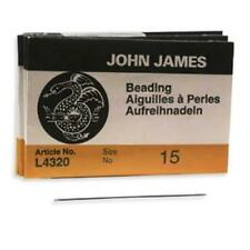 25 #15 John James English Beading Needles - Very Fine - Works for 15/o Seed Bead