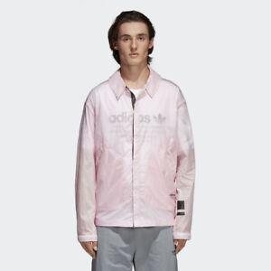 adidas Originals NMD Coach Shirt Jacket Men New Mens Pink Black CV5821
