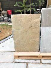 New Marshalls Autumn Brown / Buff Riven Sandstone Paving Patio Stone Slab
