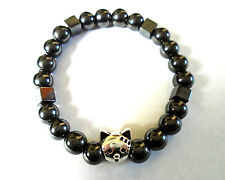 Cat Hematite Powerful Magnetic Bracelet for Arthritis Pain Relief, Sport Golf