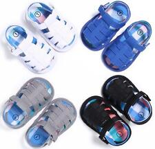 Baby Boy Cotton Crib Shoes Toddler First Pre Walker Summer Sandals Newborn to 18