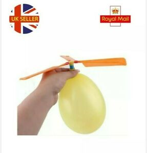 Toy balloon's helicopter flying toy, garden toy, party bag, stocking filler 🇬🇧