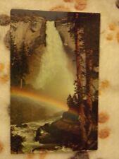 Vintage Postcard Yosemite National Park, California, Nevada Fall