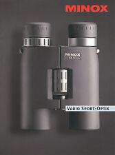 Prospekt brochure Minox vario deporte óptica 2006 BD 10-15x40 br BD 8-14x40 br ed