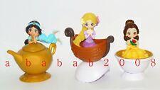 Bandai Disney RAPUNZEL.JASMINE.BELLE gashapon figure (full set of 3 figures)