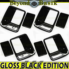 99-16 FORD F250 F350 F450 F550 4DR CREW GLOSS BLACK Door Handle Covers With PSK