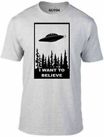 I Want to Believe T-Shirt - Funny t shirt sci fi ufo space x fiction files alien