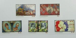 Cook Islands Queen's 60th Coronation Commemoratives 2013 - Stamp Set MNH #A06