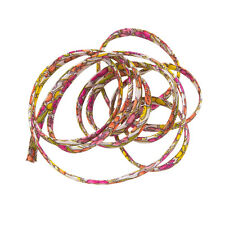 Liberty of London 4mm Pink/Yellow Ribbon Cord Jennie & Steve A - 1 Metre (K41/3)