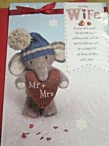 CHRISTMAS CARD ~WIFE~ NEW~