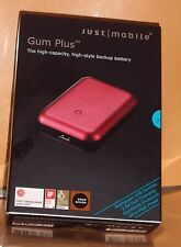 New Just Mobile Gum Plus 5200mAh Travel Charger PP-168STI - Red