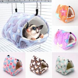 Small Animal Pet Cage Hanging Hammock Winter Warm Hamster Nest Sleeping Bed