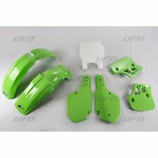 New Kawasaki EVO KX 250 1989 KX 500 89 90 91 92 Green White Plastic Kit Plastics