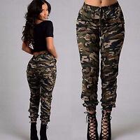 Womens Combat  Trousers Pocket Leggings Camo Casual Pants Plus Size
