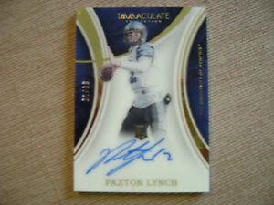 Paxton Lynch 2016 Immaculate On Card Acetate Rc Auto 31/99 Denver Broncos Nice
