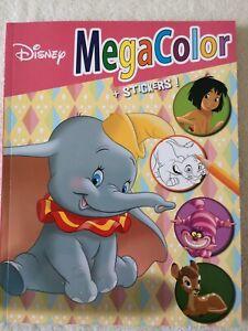 Walt Disney - MegaColor Malbuch mit über 120 Ausmalbildern + 25 Sticker