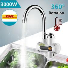 Durchlauferhitzer Armatur Schnelle Elektrische Warmwasserbereiter 3000W LED Temperaturanzeige Heizung Wasserhahn f/ür K/üche und Bad