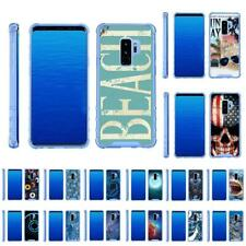 For Samsung Galaxy S9+ G965 Slim Fitted Flexible TPU Case Shock Bumper Blue