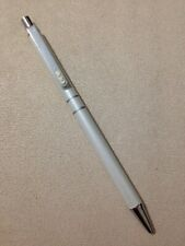 PAPER MATE LIMITED EDITION WHITE CHROME TRIM BALLPOINT PEN-JAPAN-BLUE INK.