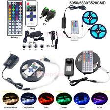 10M 20M 5M LED Flexible Strip Light SMD 3528 5050 5630 300 +Remote +Power Supply