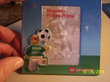 NEW OFFICIAL  LEGO SPORTS SOCCER 4X4  MAGNETIC PICTURE FRAME - REFRIGERATORS ETC