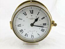 Wempe Brass Marine Clock Chronometer