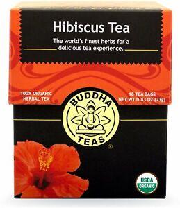 Hibiscus Tea by Buddha Teas, 18 tea bag 1 pack