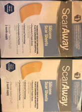 ScarAway Silicone scar sheets 2 month supply exp 01/2023. Damaged/opened Box