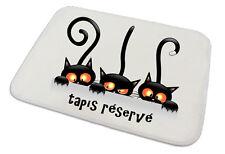 Tapis pour chat repas et propreté  personnalisé texte au choix réf 01