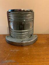 Antique Fresnel Lens Stern Light Chrome Bronze